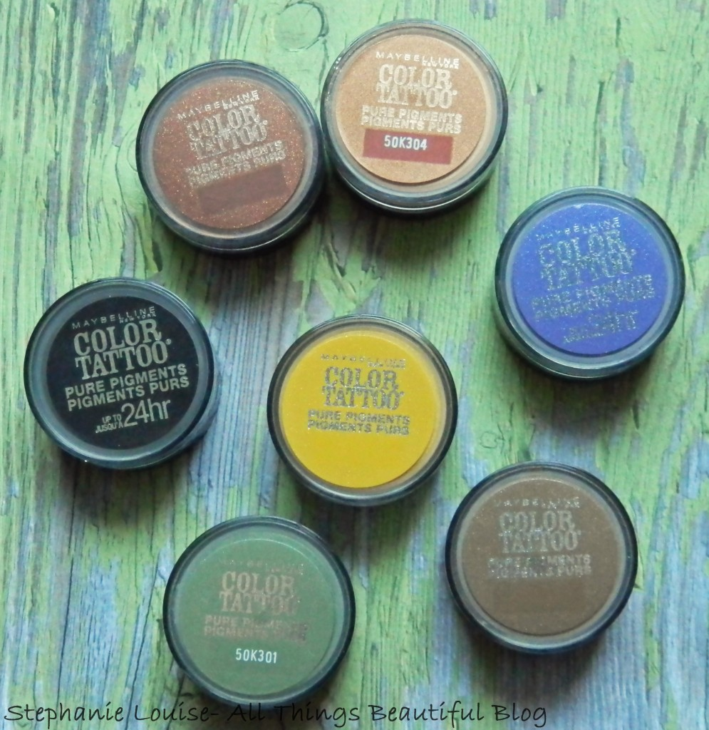NEW Maybelline Color Tattoo Pure Pigments Eyeshadow Swatches & Review