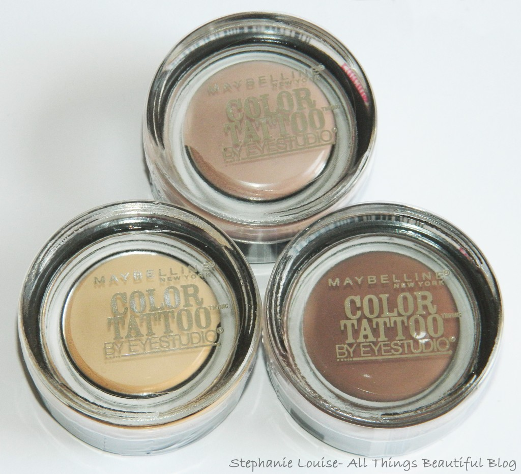 Maybelline Gilded in Gold Winter 2013 Matte LE Color Tattoos Review & Swatches