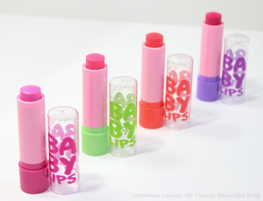 Maybelline Spring 2014 Baby Lips Pink'ed LE Collection Swatches, Video, & Review