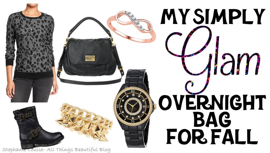 My Simply Glam Overnight Bag for Fall featuring Style, Beauty, & Must Haves!