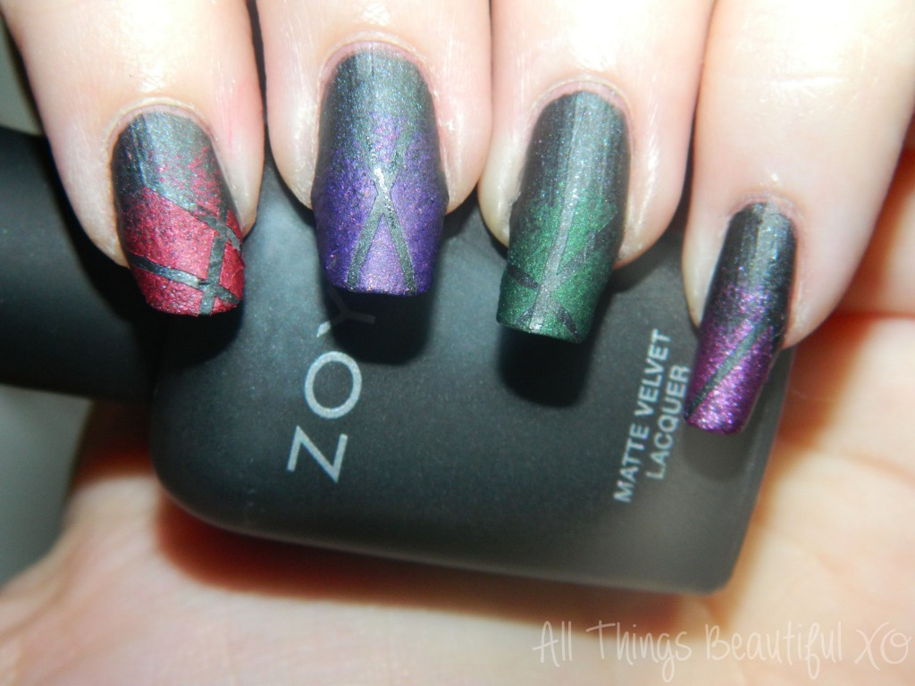 C Is For Copy Cat With Zoya Matte Velvet Nail Art Via All Things Beautiful XO