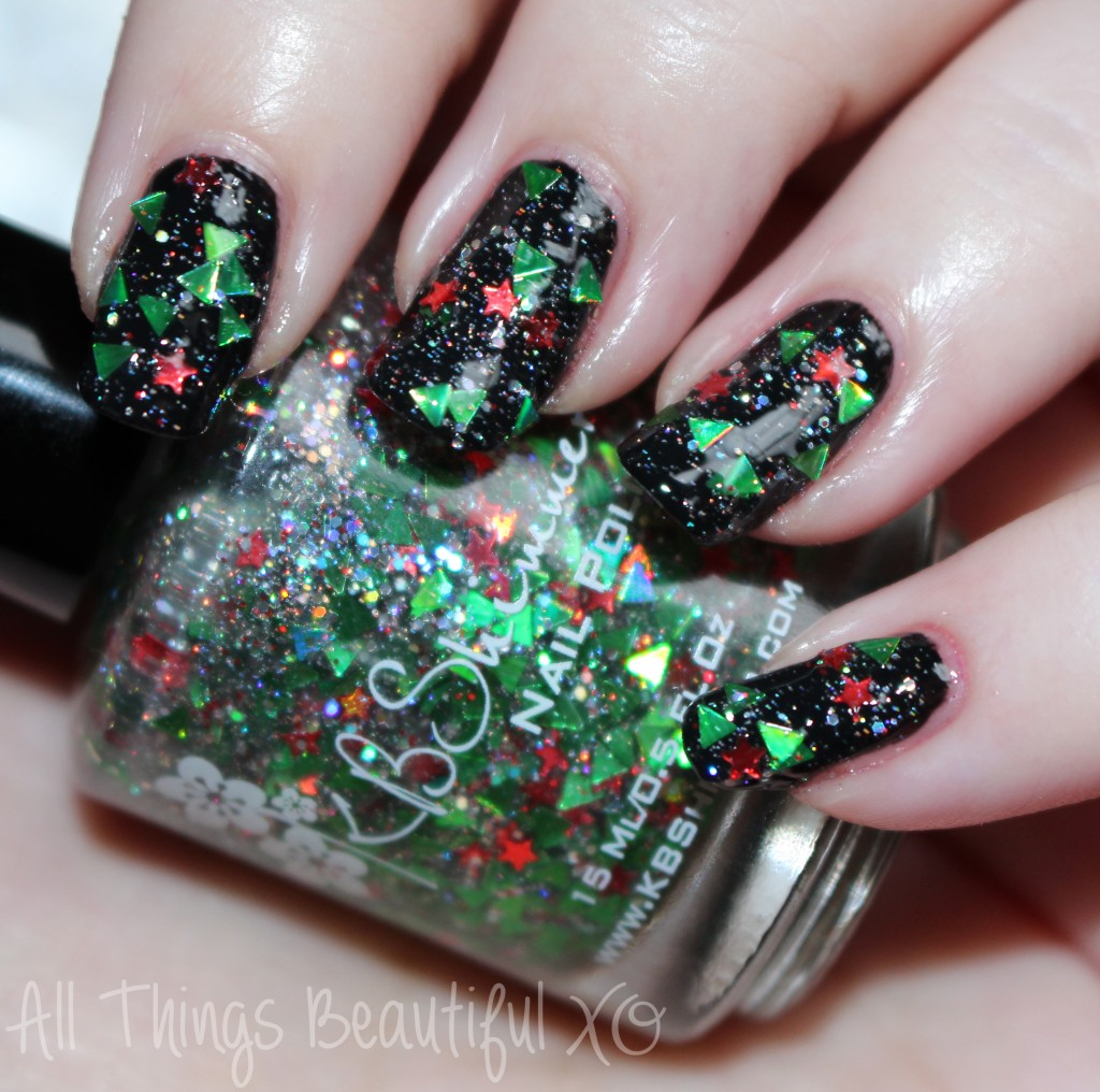 Pine-ing for Yule from the KBShimmer Holiday Nail Polishes for Winter 2014 Swatches & Review on All Things Beautiful XO