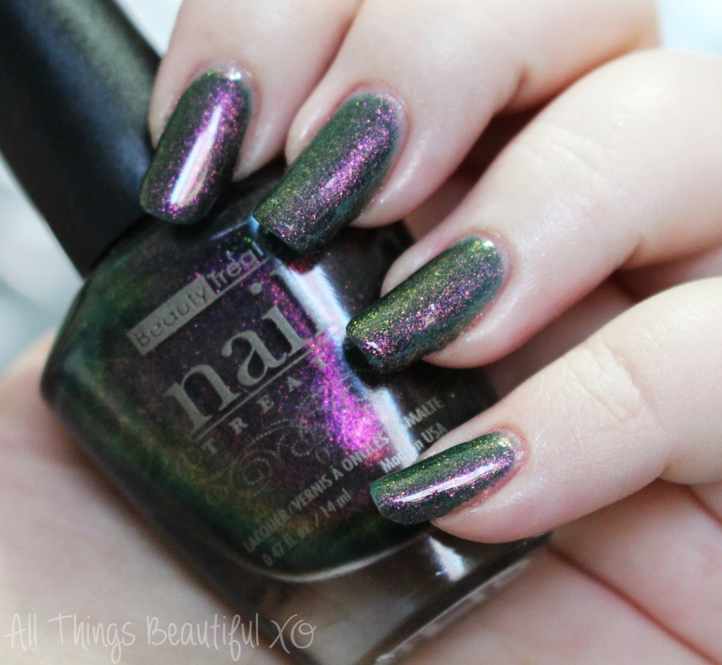 Beauty Treats Nail Treats Lacquer in Enchanted Swatches & Review from All Things Beautiful XO
