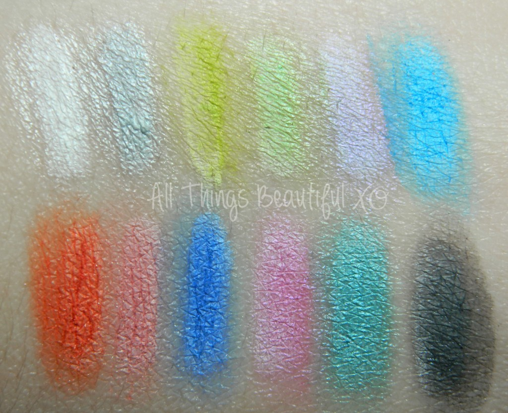 LA Girl Neons Eyeshadow Palette, Swatches, Review & Demo from All Things Beautiful XO