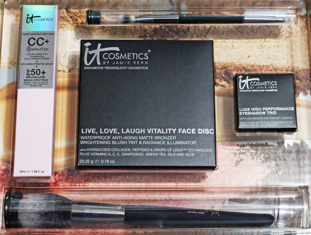 It Cosmetics CC+ Your Way to Radiant Skin Review & Demo- Check out my thoughts on the entire kit including the It Cosmetics CC+ Cream Illumination, Anti-Aging Vitality Face Disc, Luxe Eye Shadow Trio in Pretty In Spring, & new brushes! from All Things Beautiful XO