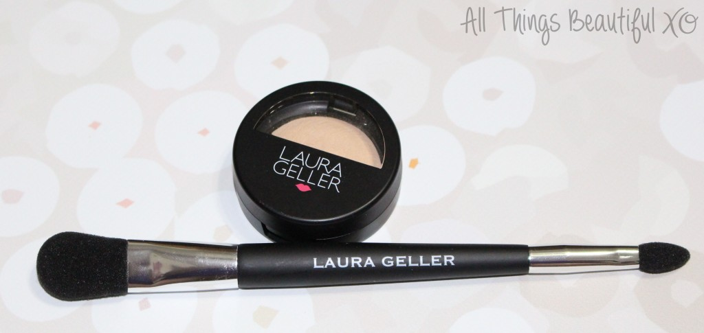 Review & demo of the Laura Geller Baked Highlighter in Vanilla with Double-Ended Face & Eye Applicator from All Things Beautiful XO