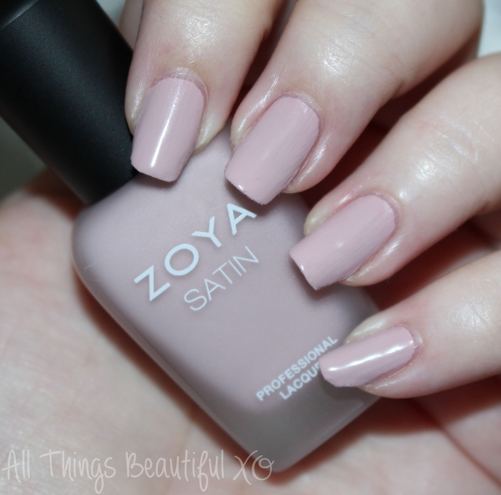 This is Zoya Brittany from the Zoya Naturel Satin Nail Polish Collection for 2015 Swatches & Review on All Things Beautiful XO