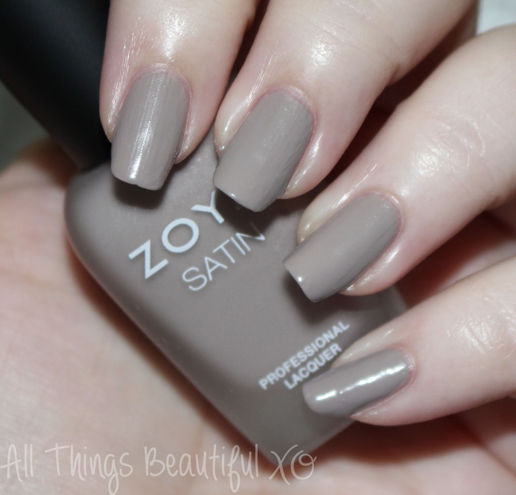 This is Zoya Rowan from the Zoya Naturel Satin Nail Polish Collection for 2015 Swatches & Review on All Things Beautiful XO