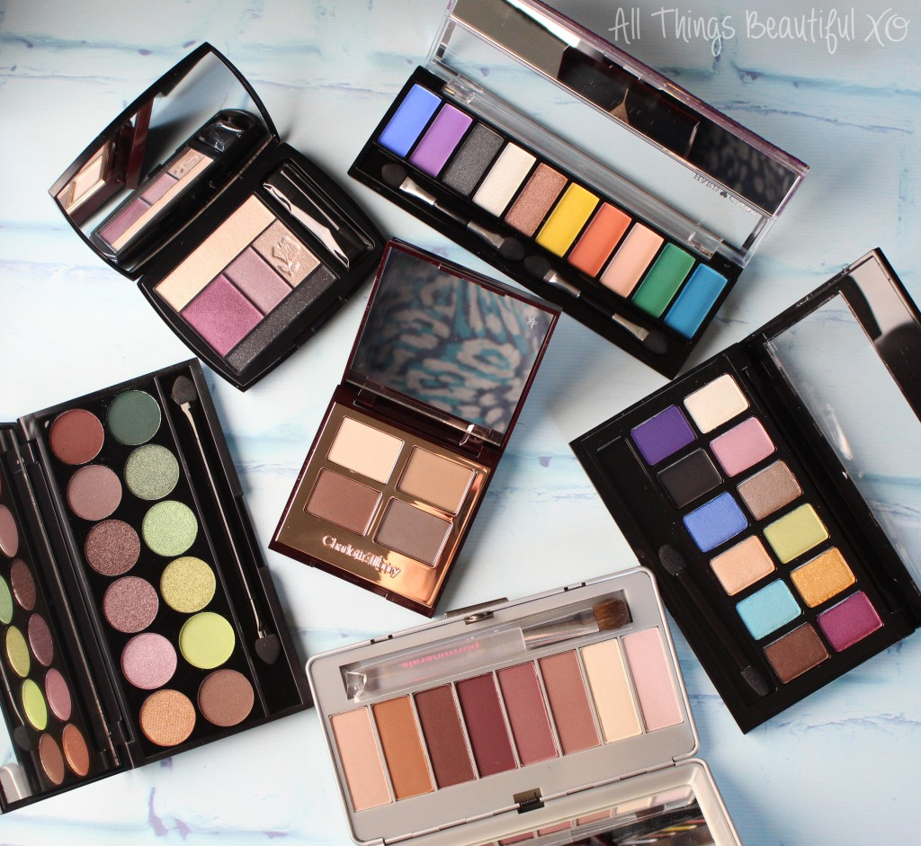 My New Spring & Summer Ready Eyeshadow Palette Picks ranging from drugstore to luxury including Charlotte Tilbury, Sleek, Maybelline, Hard Candy, & More! Check them all out on All Things Beautiful XO