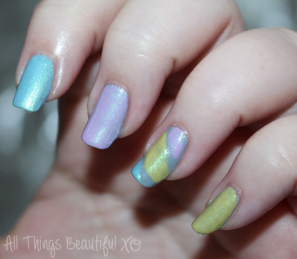 Zoya Tove + Spring 2015 Shades in Quick Nail Art. Some non-traditional nail art for spring using the Spring Delight line from Zoya & the shade Tove from All Things Beautiful XO