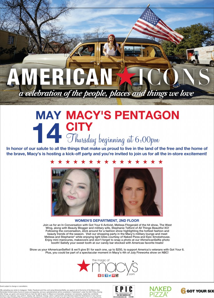 American Icons Macy's + Got Your 6 with Stephanie Louise Telford of All Things Beautiful XO