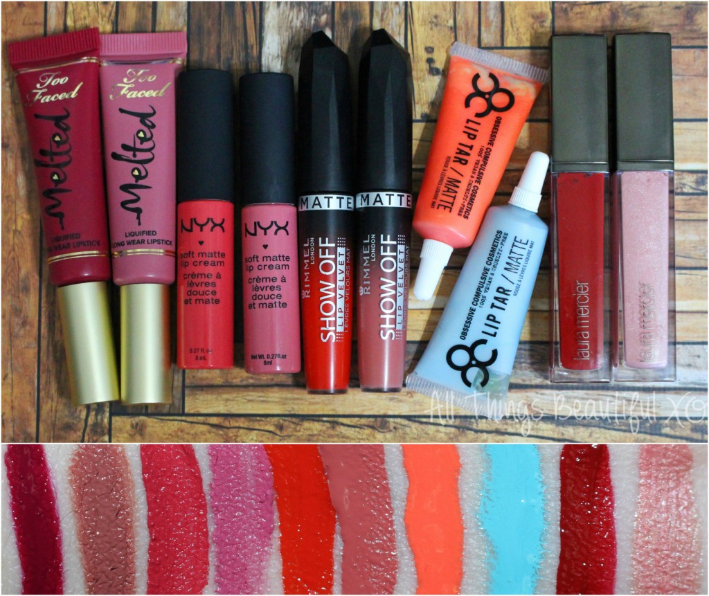 The Mega Matte Lip Product Guide- everything from lipstick to glosses to creams! This is the ultimate beauty guide you've been looking for! | www.allthingsbeautifulxo.com
