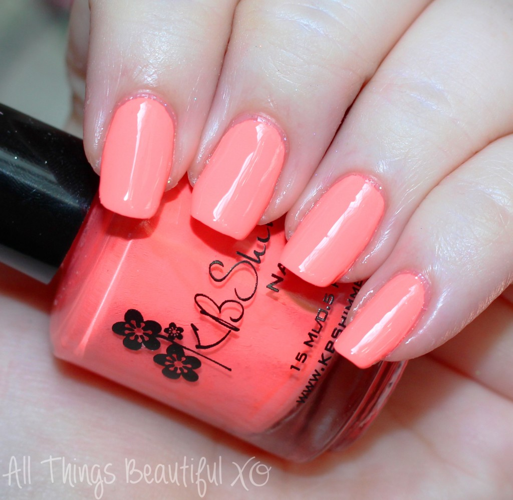 KBShimmer Summer 2015 Nail Polish Swatches & Review with Glitter & Neons on All Things Beautiful XO   www.allthingsbeautifulxo.com