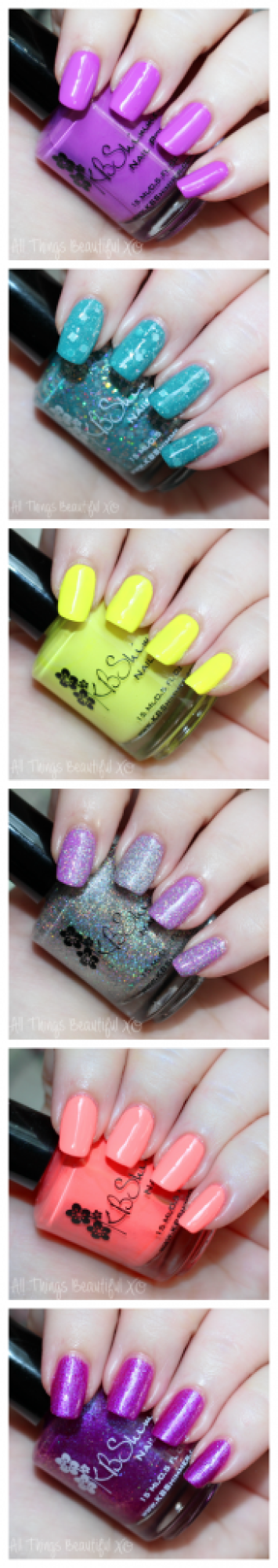 KBShimmer Summer 2015 Nail Polish Swatches & Review with Glitter & Neons on All Things Beautiful XO | www.allthingsbeautifulxo.com
