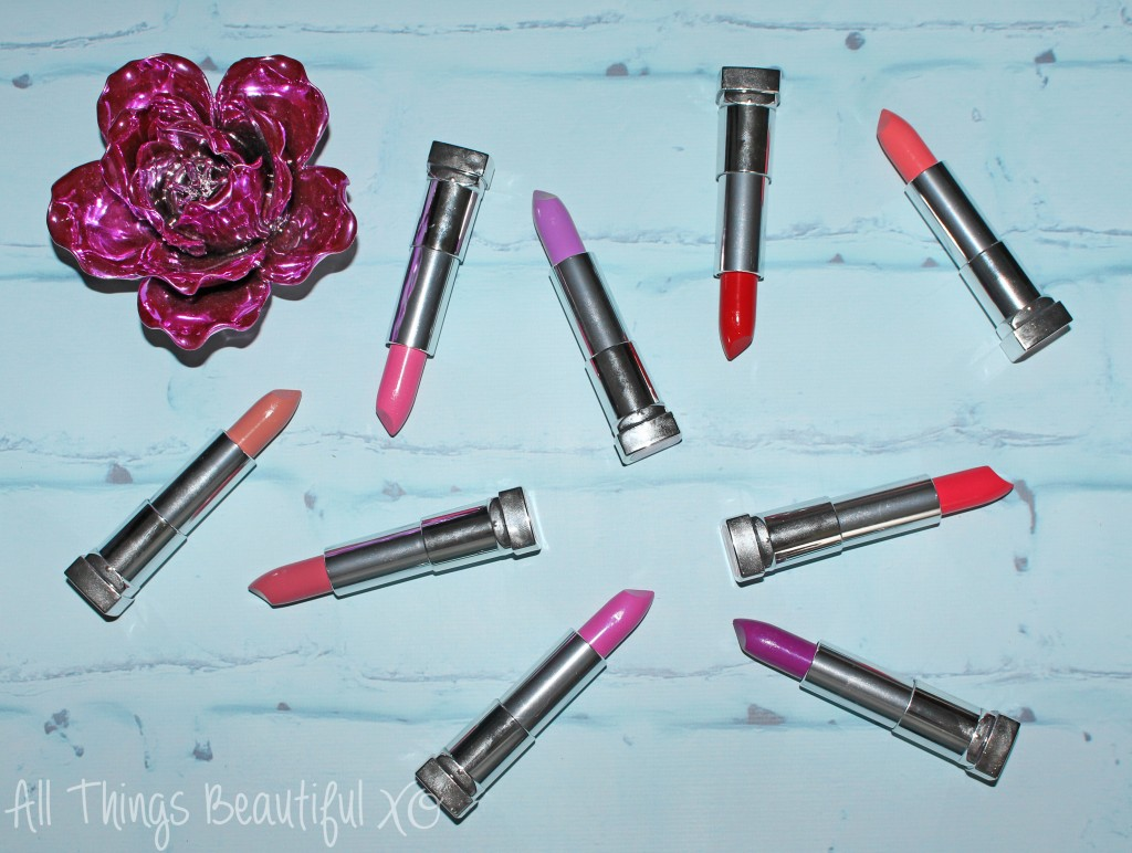 Maybelline Rebel Bloom Lipstick Collection Swatches & Review on All Things Beautiful XO   www.allthingsbeautifulxo.com