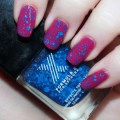 Swatches & review of Sephora for Formula X Effects Top Coat in TNT- a stunning cobalt blue glitter! Perfection!   www.allthingsbeautifulxo.com