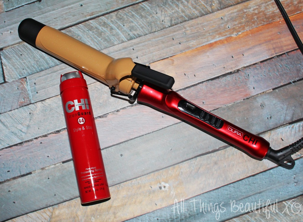 Using the Most Hi-Tech Blow Dryer + Getting Gorgeous Curls Review! Check out my review & demo of the CHI Dura 1 1/4 inch Titanium Infused Ceramic Curling Iron & the CHI Touch 2 Touch Screen Hair Dryer on All Things Beautiful XO | www.allthingsbeautifulxo.com