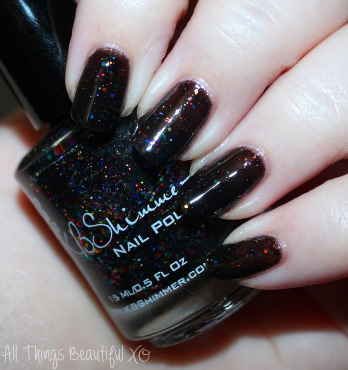 KBShimmer Fall 2015 Swatch Dark & Twisty  Swatches & review of the KBShimmer Fall 2015 nail polish shades in Talk Qwerty to Me, I've Seen Sweater Days, Soul Deep, Dark & Twisty, Such A Vlad-Ass, & I Feel Gourd-geous. This is part #1 of 2 on All Things Beautiful XO | www.allthingsbeautifulxo.com