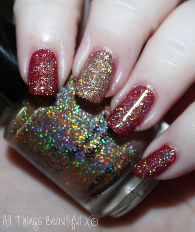 KBShimmer Fall 2015 Swatch I Feel Gourd-geous  Swatches & review of the KBShimmer Fall 2015 nail polish shades in Talk Qwerty to Me, I've Seen Sweater Days, Soul Deep, Dark & Twisty, Such A Vlad-Ass, & I Feel Gourd-geous. This is part #1 of 2 on All Things Beautiful XO | www.allthingsbeautifulxo.com