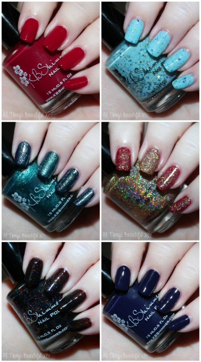 Swatches & review of the KBShimmer Fall 2015 nail polish shades in Talk Qwerty to Me, I've Seen Sweater Days, Soul Deep, Dark & Twisty, Such A Vlad-Ass, & I Feel Gourd-geous. This is part #1 of 2 on All Things Beautiful XO | www.allthingsbeautifulxo.com
