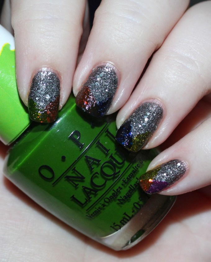 Super Easy Rainbow Tips Nail Art With OPI Color Paints