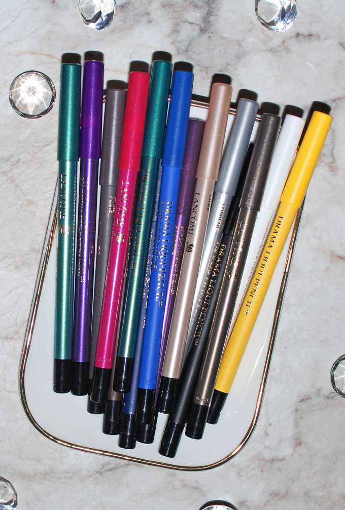 Check out the stunning array of Lancome Drama Liqui-Pencils along with swatches, review, & even a graphic eye look! If you're looking for eyeliner pencils that go on pigmented, have an amazing color range, & won't budge then you've got to check these out! Read more on All Things Beautiful XO