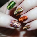 Check out my autumn nail inspiration- these foil nails are incredibly easy.Because fall nails don't always have to be dark & deep...manicures can be flashy or holo too! I'm completely in love with how easy these are to apply & the look is fantastic. Check out nail art, makeup, skincare, hair, & tons more All Things Beautiful XO