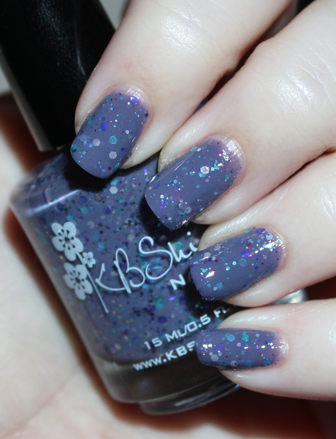 KBShimmer Winter Holiday Nail Polish Swatch in Brrr-tiful Dreamer  Check out full swatches & review of all the KBShimmer Nail polish shades for winter/holiday- including some gorgeous holo & glitter options! Check them all out on All Things Beautiful XO