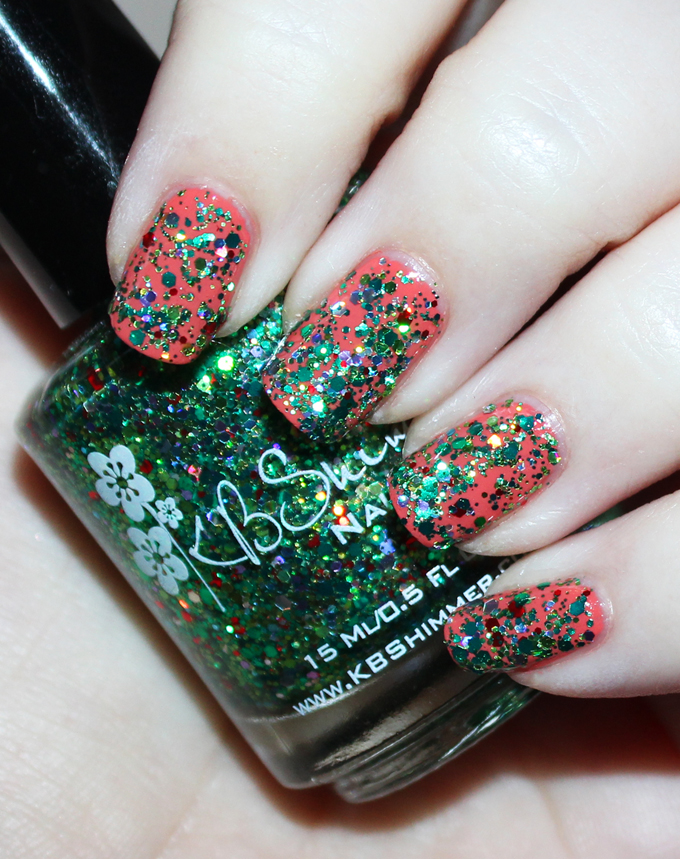 KBShimmer Winter Holiday Nail Polish Swatch in sELFie  Check out full swatches & review of all the KBShimmer Nail polish shades for winter/holiday- including some gorgeous holo & glitter options! Check them all out on All Things Beautiful XO