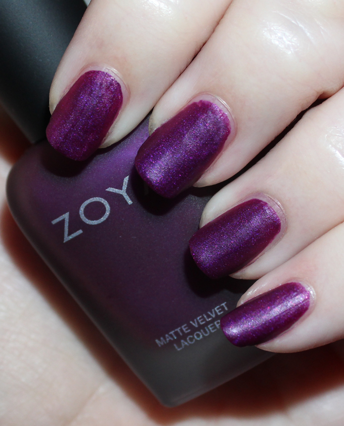 Swatches Review Of The Zoya Matte Velvet Holiday Collection For Winter Including Shades Amal