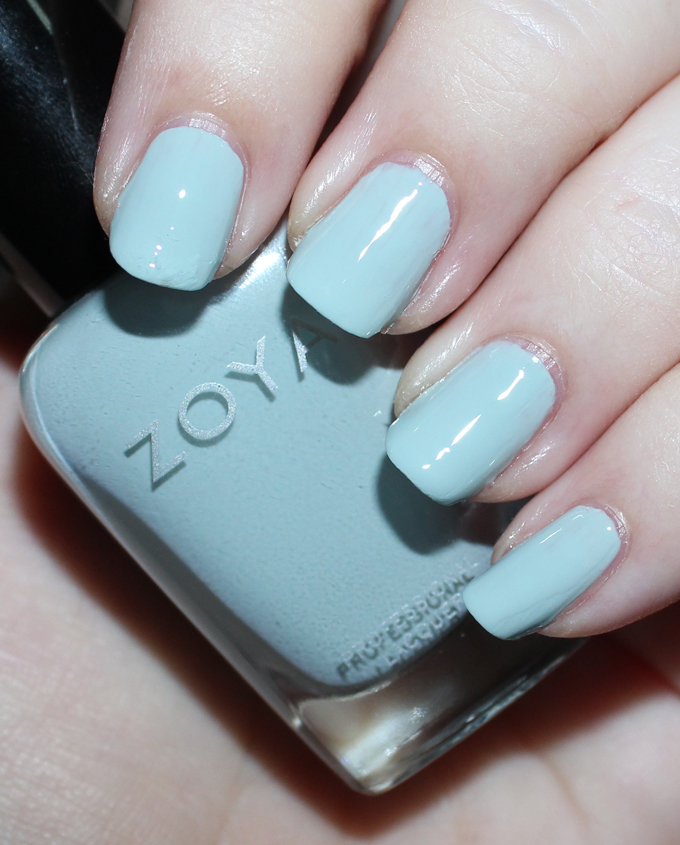ZOYA LAKE   Swatches & review of the Zoya Whispers Transitional 2016 Nail Polish Collection including the shades April, Cala, Lake, Eastyn, Ireland, & Misty on All Things Beautiful XO