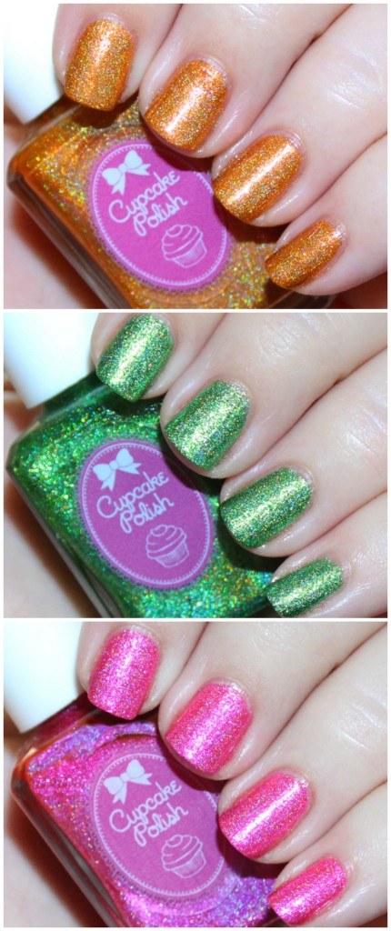 Cupcake Polish Luau Collection including the shades Tiki to my Heart, Here Today Gone to Maui, & Sand by Me Swatches & Review on All Things Beautiful XO