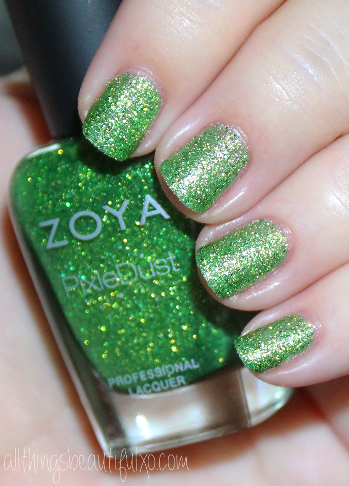 This is Zoya Cece  Swatches & Review of the Zoya Pixie Dust Seashells Collection including Levi, Bay, Cece, Linds, Zooey, & Tilly on All Things Beautiful XO