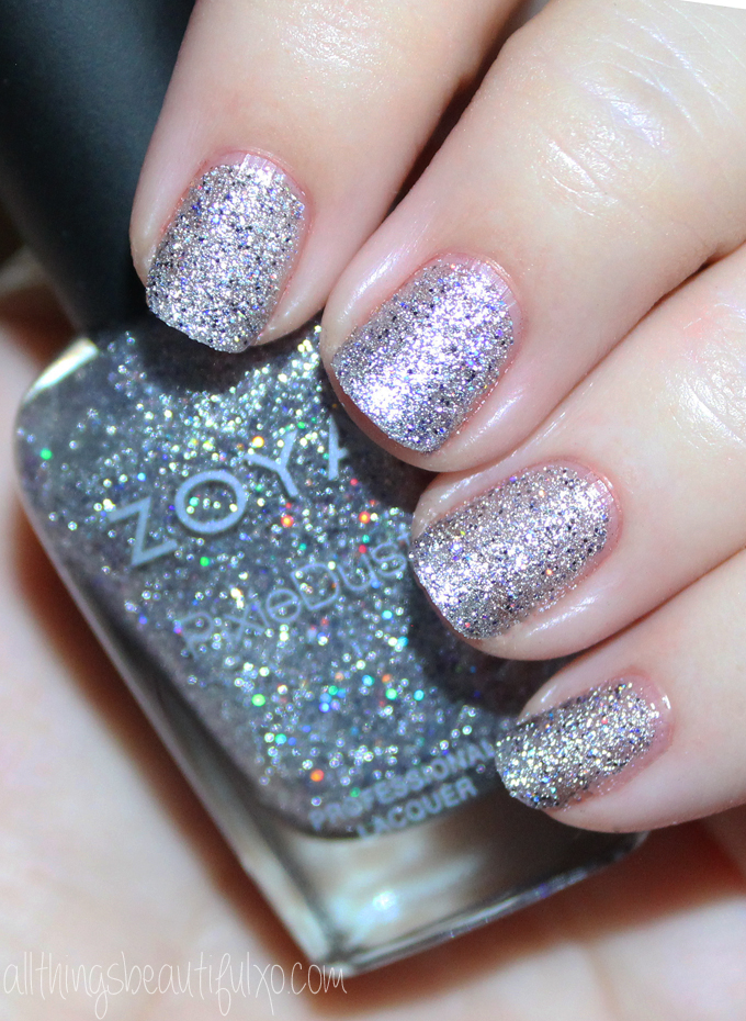 This is Zoya Tilly  Swatches & Review of the Zoya Pixie Dust Seashells Collection including Levi, Bay, Cece, Linds, Zooey, & Tilly on All Things Beautiful XO