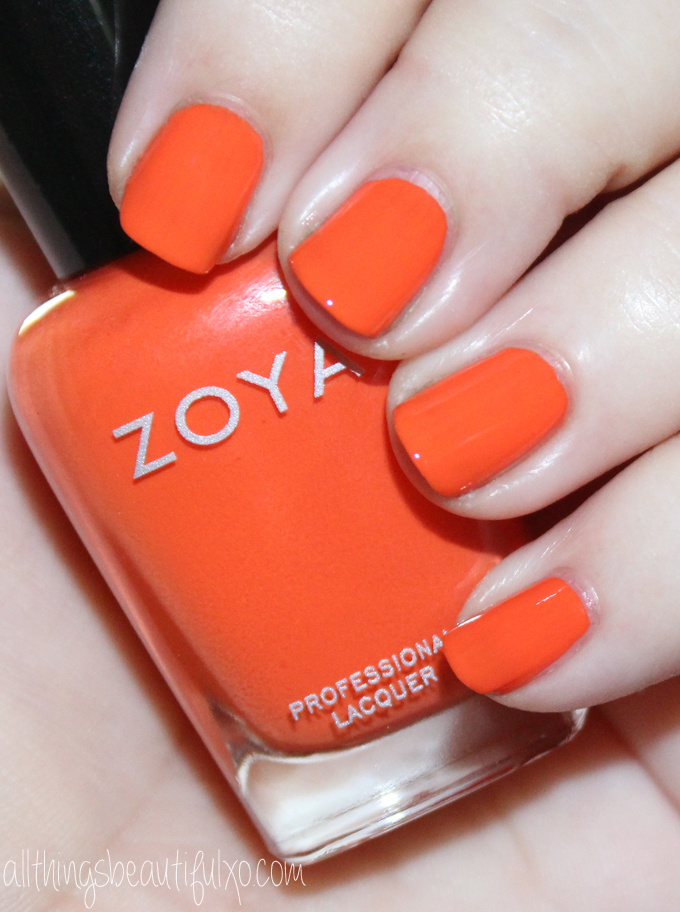 This is Zoya Cam  Swatches & review of the Zoya Nail Polish Sunsets Collection including the shades Dory, Brynn, Liz, Cam, Dixie, & Ness on All Things Beautiful XO along with other beauty reviews, nail art, hair tutorials, & much more!