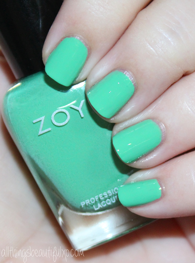 This is Zoya Ness  Swatches & review of the Zoya Nail Polish Sunsets Collection including the shades Dory, Brynn, Liz, Cam, Dixie, & Ness on All Things Beautiful XO along with other beauty reviews, nail art, hair tutorials, & much more!