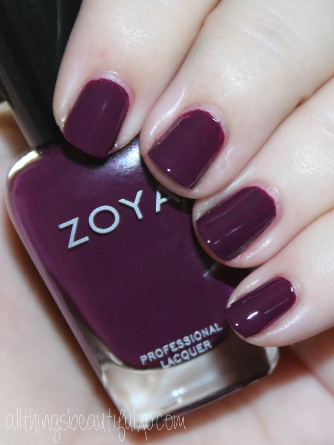 This is Zoya Tara Swatches & review of the Zoya Urban Grunge Creams including the shades Mallory, August, Wyatt, Courtney, Tara, & Noah! Check out more nail art, makeup reviews, & style on All Things Beautiful XO