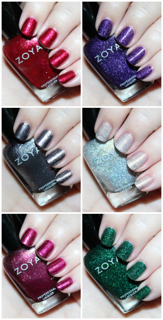 Swatches & review of the Zoya Urban Grunge Metallic + Holos including the shades Alicia, Finley, Merida, Britta, Ash, & Troy! Check out more nail art, makeup reviews, & style on All Things Beautiful XO
