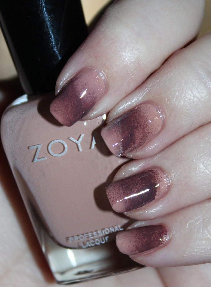 Spongy Neutral Nail Art with Zoya Cathy & Gina from the Naturel 3 Collection on All Things Beautiful XO