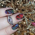 Holographic Tropical Watermarble Nail Art with KBShimmer Nauti by Nature on All Things Beautiful XO