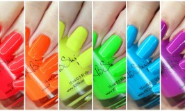 Swatches & review of the KBShimmer All the Bright Moves 90's Neon Collection on All Things Beautiful XO