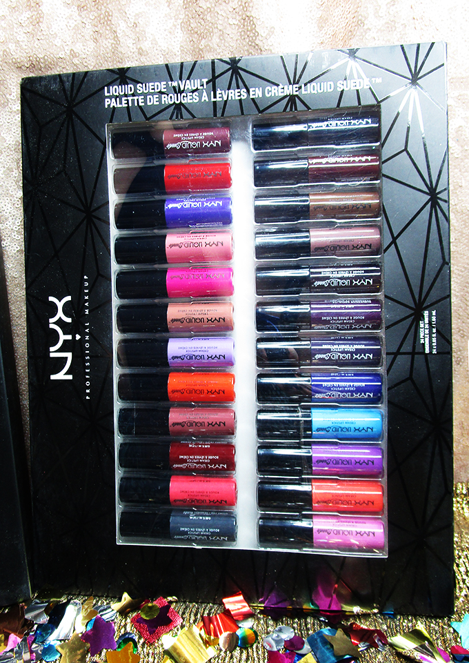 NYX Holiday 2017 Gift Sets ULTA Review Liquid Suede Lip Vault My Absolute Favorite NYX Holiday Sets Available NOW including lip vaults, glitter, & a new go-to favorite on All Things Beautiful XO
