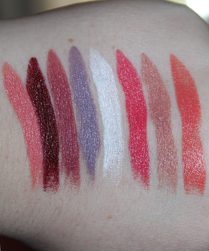 MUFE Creme Satin Swatches   I Bought a Bunch of MUFE Artist Rouge Lipsticks & Here's What I Think! (Make Up For Ever swatches, full face, & sass) on All Things Beautiful XO