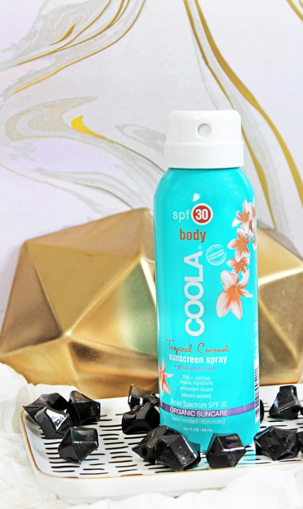 COOLA SPF 30 Sunscreen Spray Check out 7 Beauty Must-Haves You'll Actually Want to Travel With including skin, fragrance, & makeup on All Things Beautiful XO