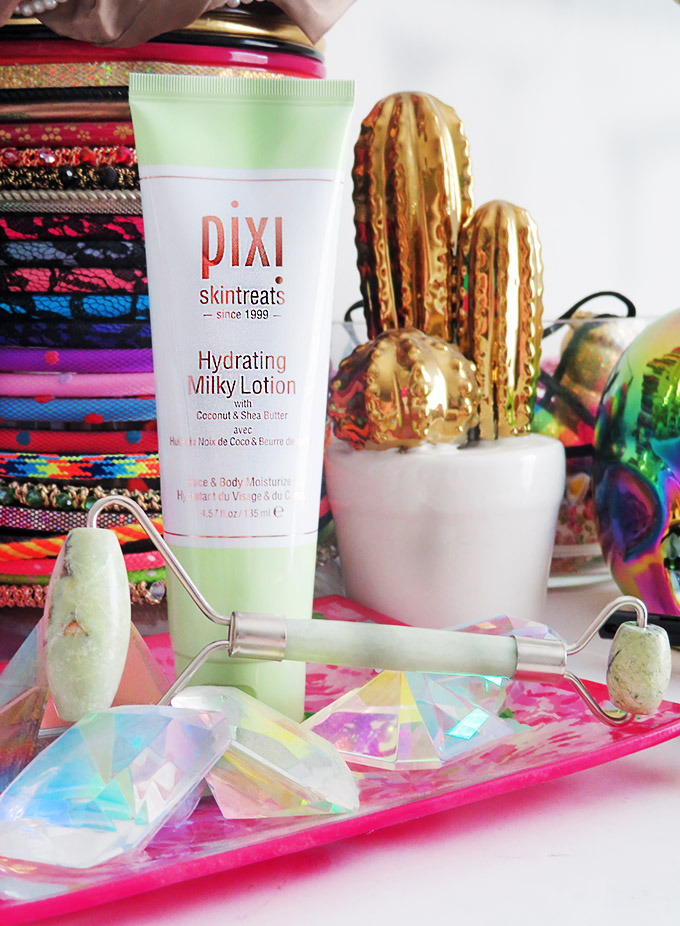 Pixi Beauty Hydrating Milky Lotion Review if the Pixi Hydrating Milky Skincare Line including cleanser, peel, & tonic on All Things Beautiful XO