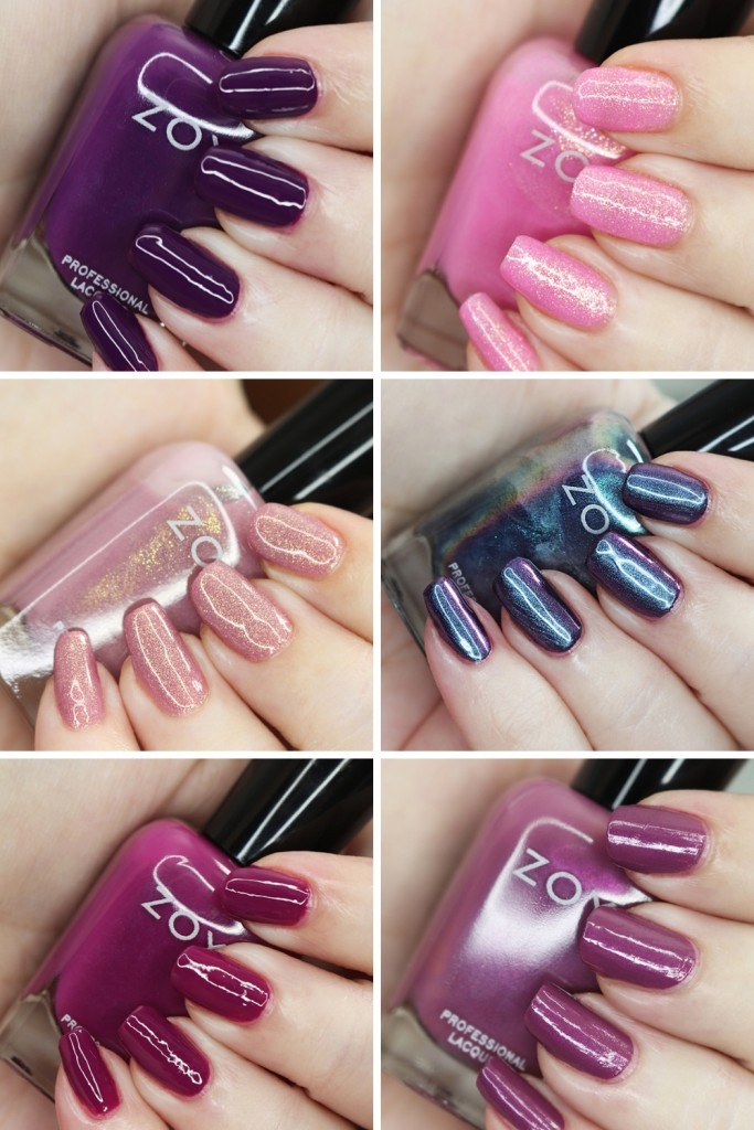 Swatches & Review of the Zoya Luscious Part A Collection - shades in  Wanda, Patrice, Teresa, Andrea, Bentley, and Sharon on All Things Beautiful XO