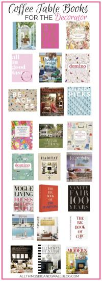 The Must Have Coffee Table Books to Read and Decorate Your ...