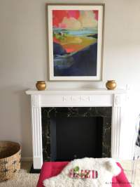 DIY Faux Fireplace: How to Refinish a Vintage Mantel - All ...