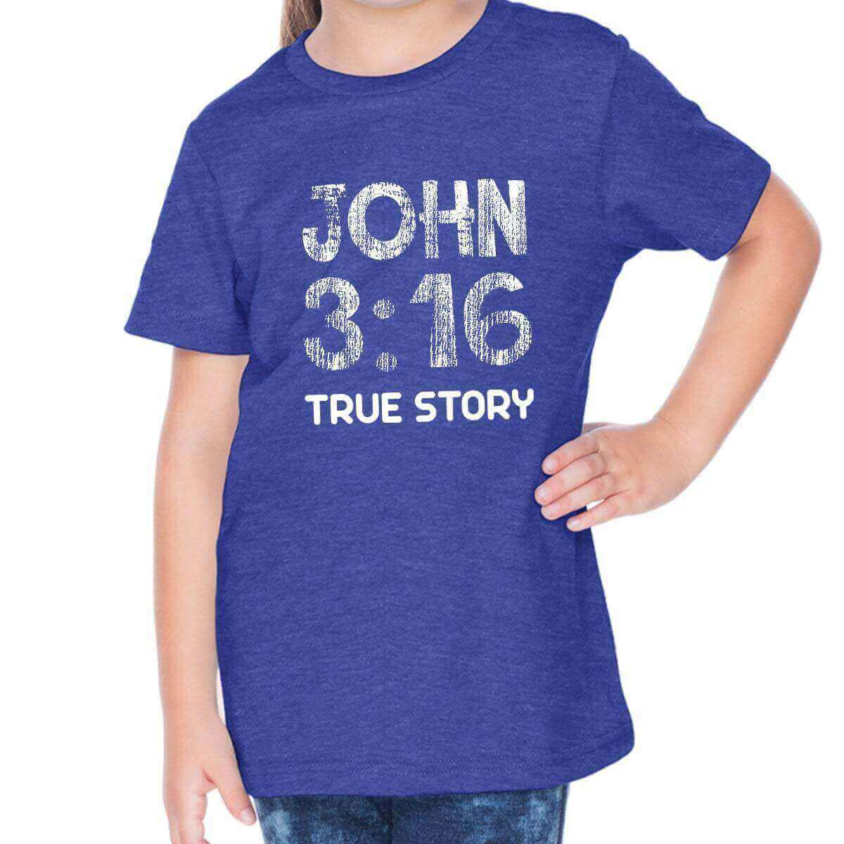 John 3 16 Toddler Christian Short Sleeve T Shirt