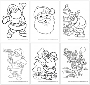 Printable Santa Claus Coloring Pages · All Things Christmas